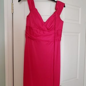 midi fuchsia dress